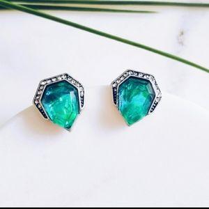 Stunning Green Stone Earrings
